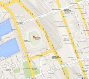 Google Map Etihad Stadium